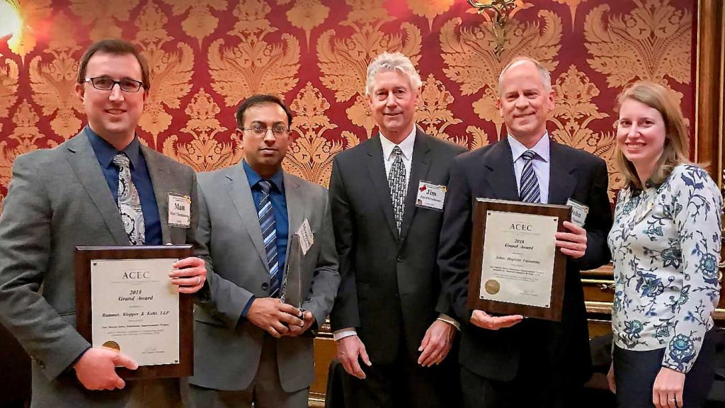 RK&K Team Members post with ACEC/MD Engineering Excellence Award