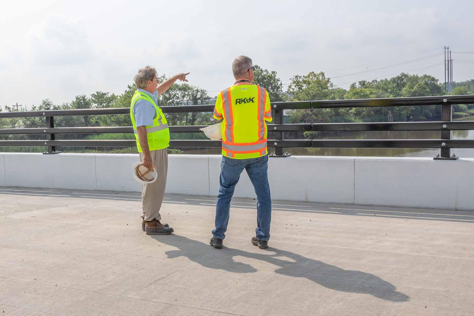 RK&K Team Members Working on the Christina River Bridge Project