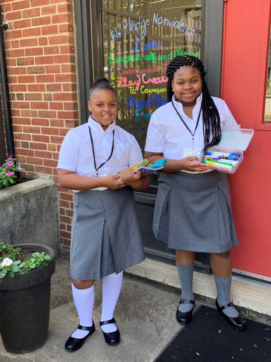 Students at Sisters Academy in Baltimore, MD.