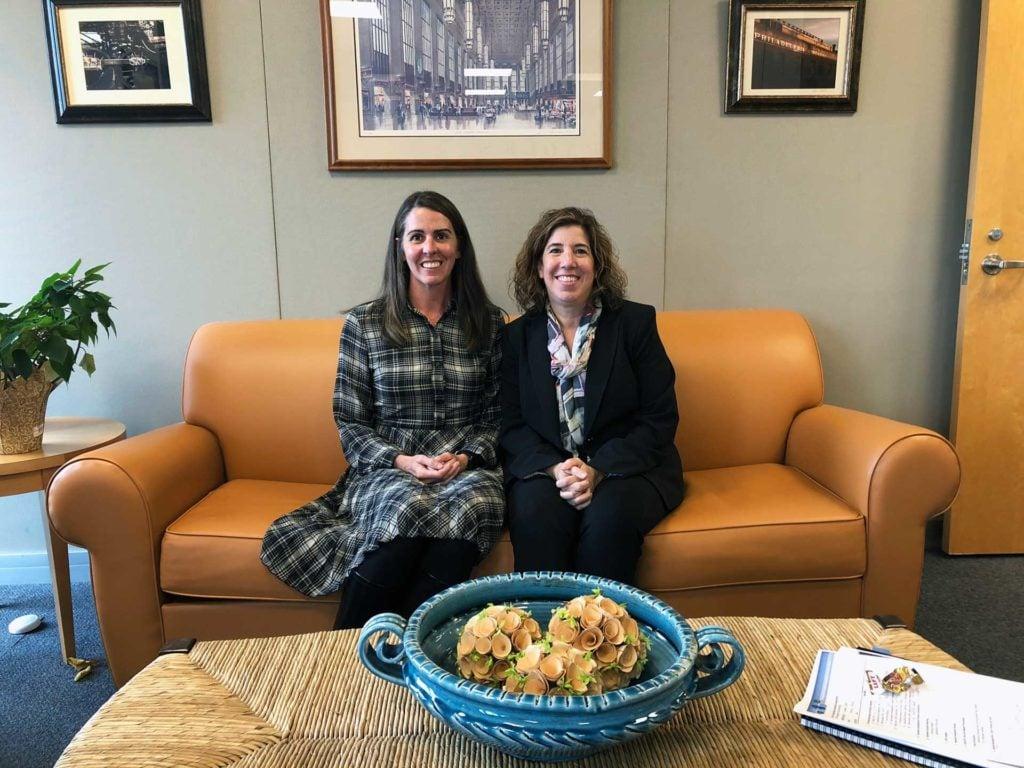 Lauren Herman with Secretary Richards