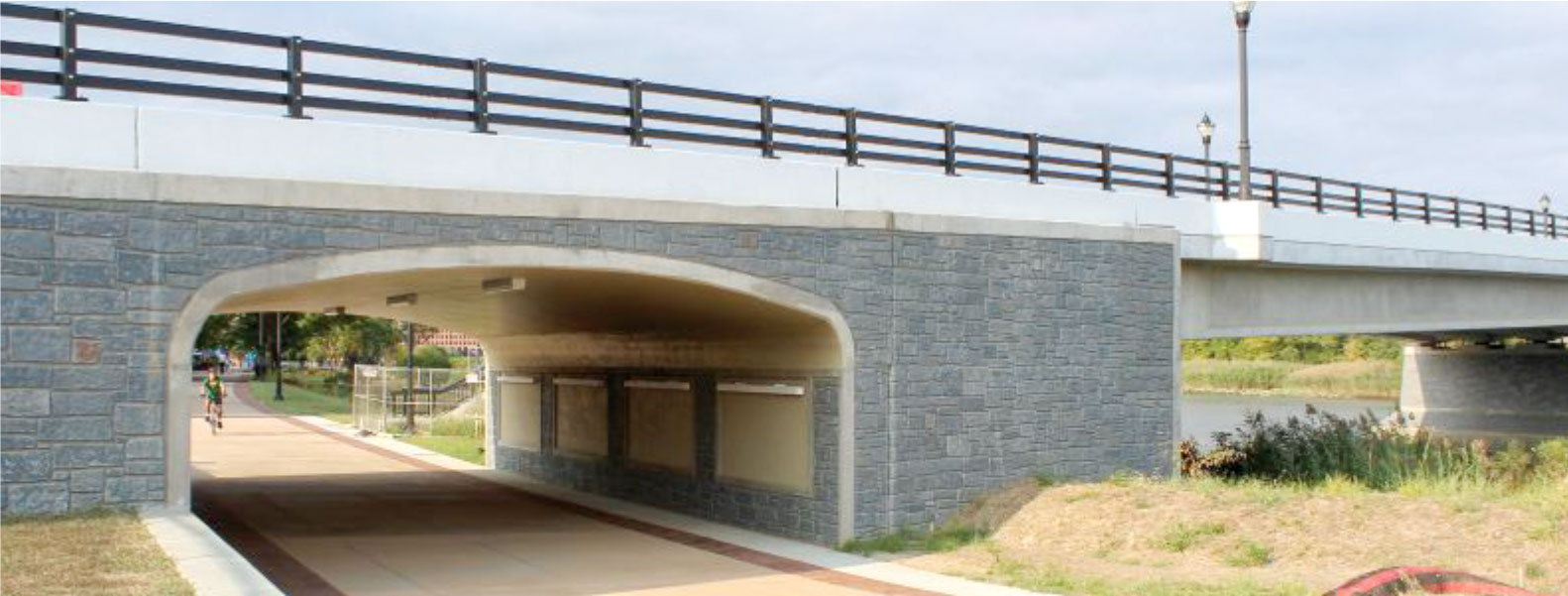View of the completed underpass for the shared-use path.