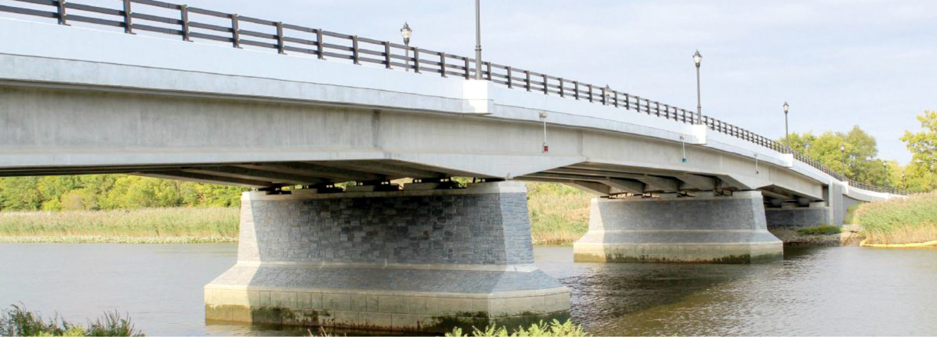 View of the completed bridge looking east.