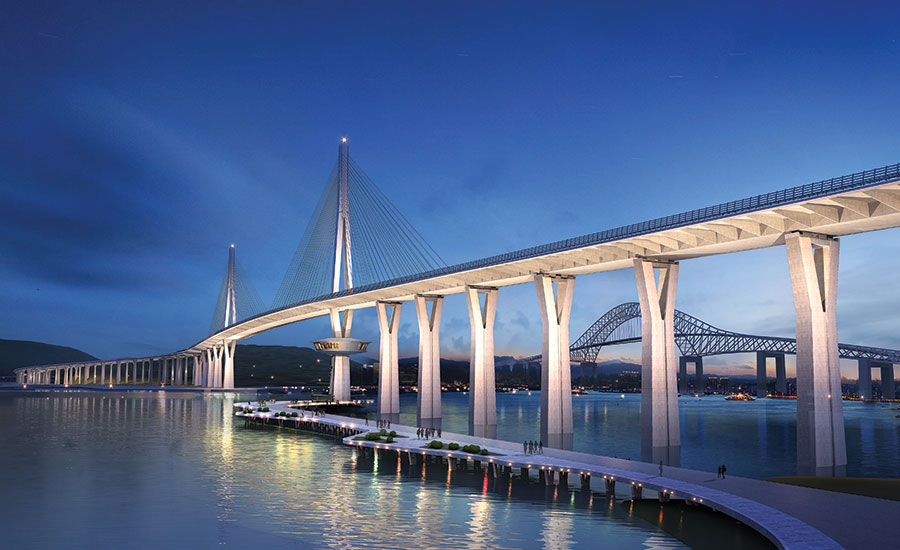 Engineering News-Record bridge over water at dusk
