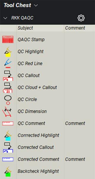 QA/QC Tool Chest in Bluebeam Studio