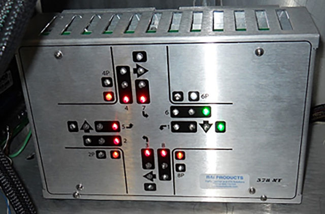 A component of a signal timing cabinet