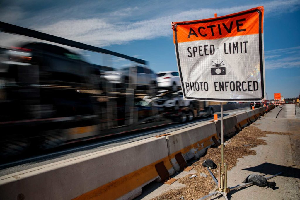 Pennsylvania Automated Work Zone Advance Warning Sign