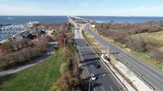 ACEC MD Honor Award winning AET gantry looking west toward the Chesapeake Bay Bridge.