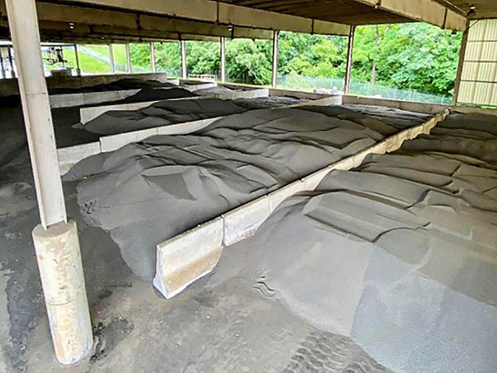 Biosolids storage at the HRRSA facility.