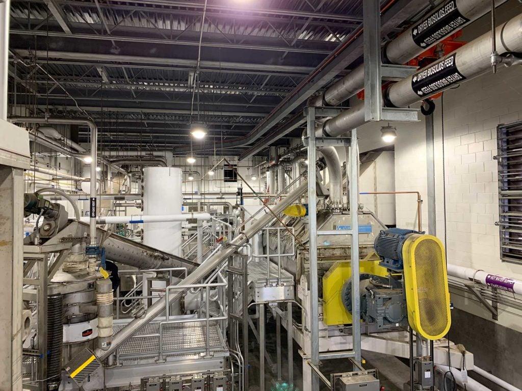 The HRRSA biosolids management dryer facility.