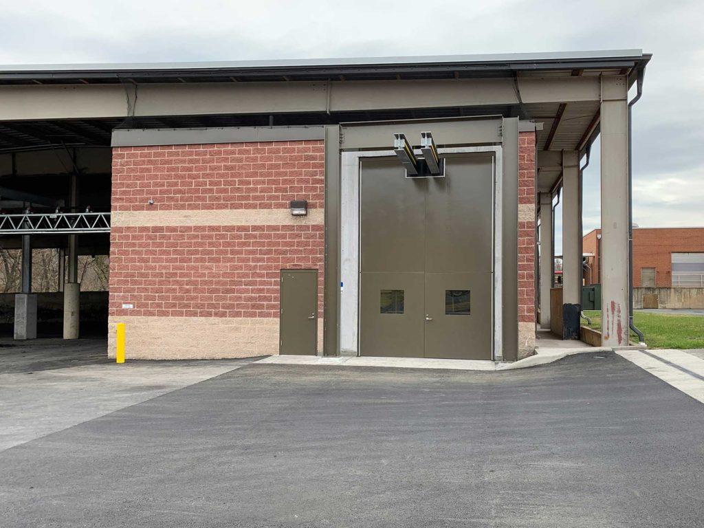 The finished HRRSA biosolids management building.