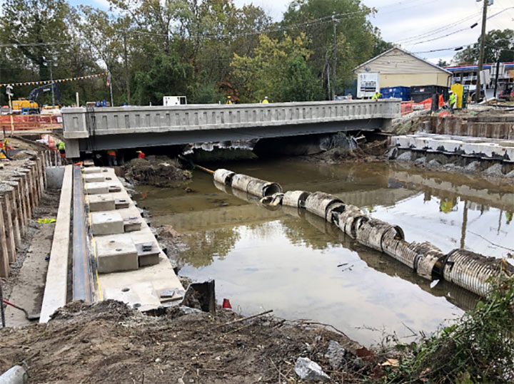 MD 213 Bridge during construction