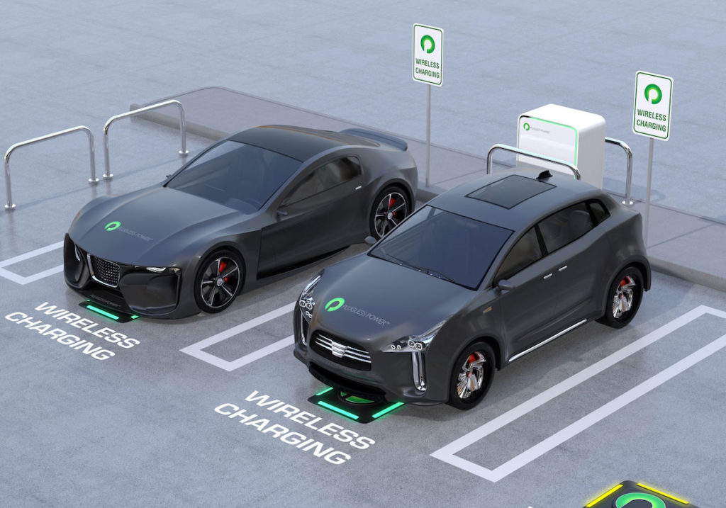 A rendering of Plugless Power's EV charging stations.