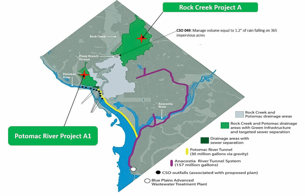 Green Infrastructure Installations in Washington, D.C. Project Overview