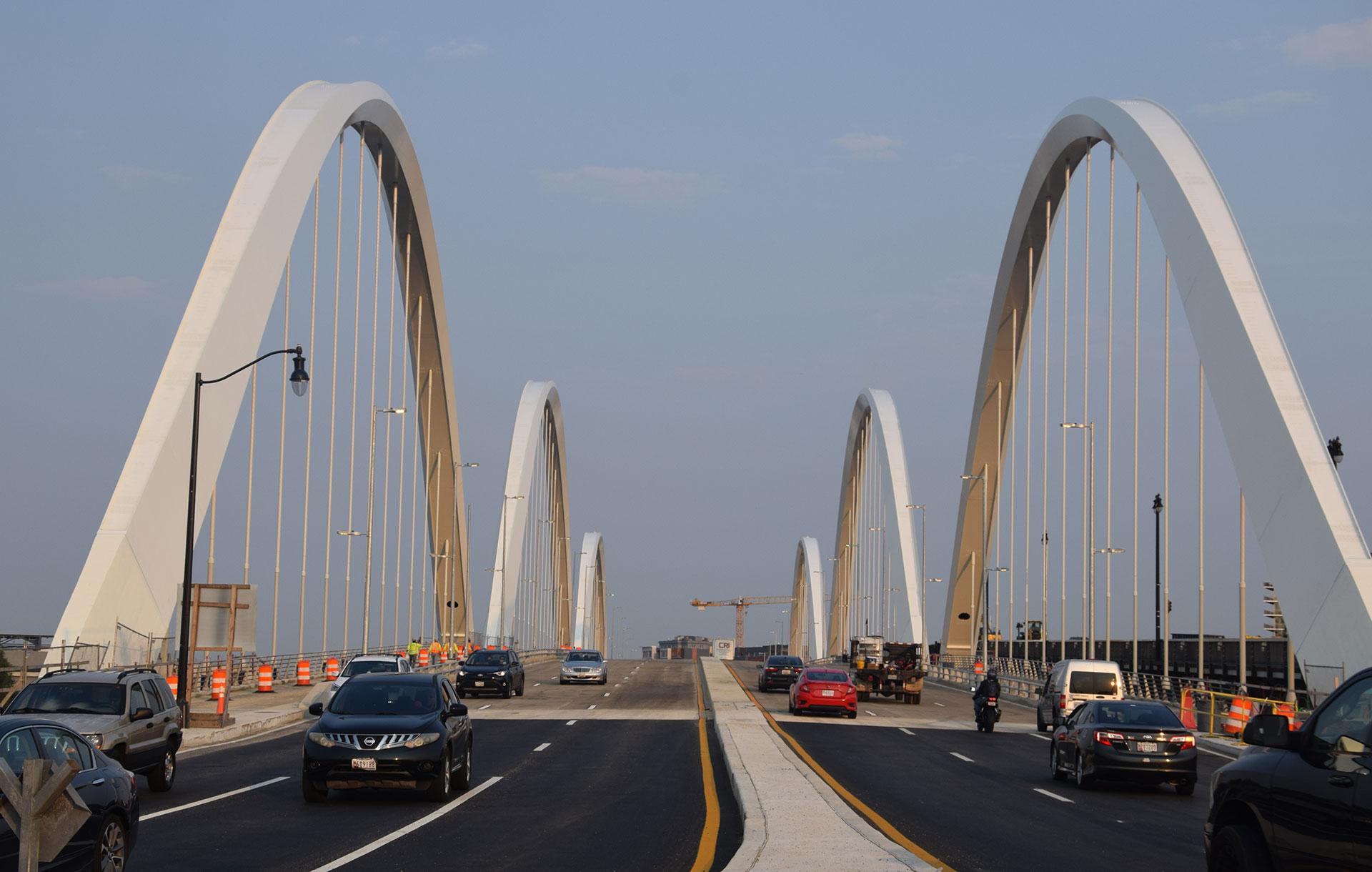 A photo of the Frederick Douglass Memorial Bridge in Washington, DC